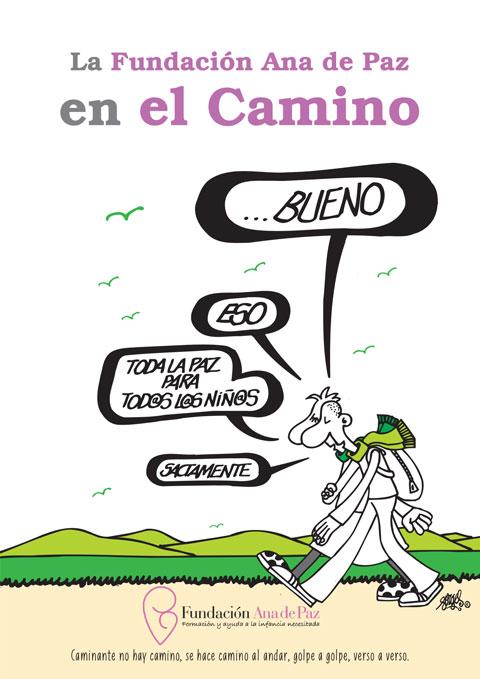 Libro de La Fundación Ana de Paz en el Camino con la colabroación de Forges.