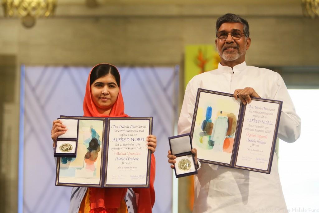 Malala recibe el Premio Nobel de la Paz el 10 de Diciembre de 2014.