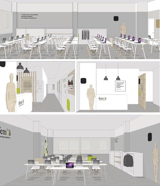 Nueva imagen de Grupo Femxa en sus centros de formación: espacio. forma, color y materiales para un nuevo concepto.