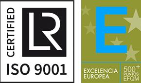 Logotipos iso 9001 en referencia a Responsabilidad Social Corporativa