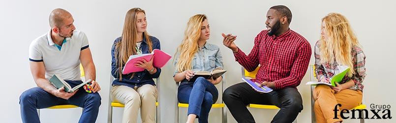 Aprendizaje en el trabajo de un grupo de personas