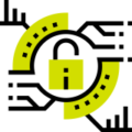 Icono ciberseguridad para proyectos de contenidos e-learning