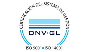 sello certificación calidad ISO 9001 14001 DNV