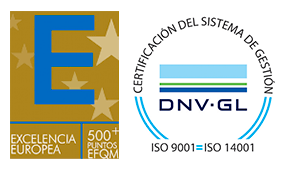 sello certificación calidad EFQM ISO 9001 DNV