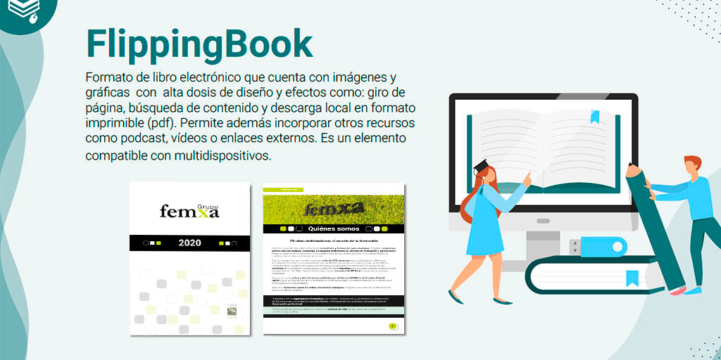 Infografía flipping book
